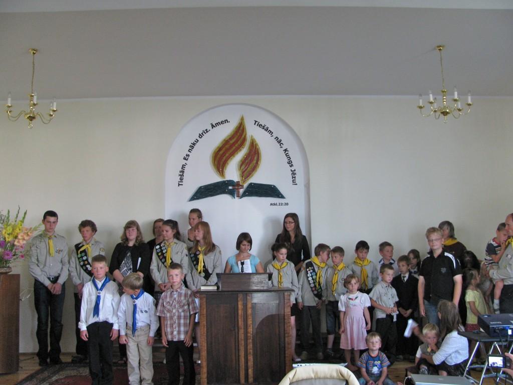 Jaunā mācību gada sākumam veltīts dievkalpojums